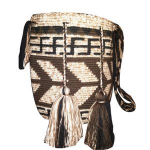 Mochila grande wayuu colores tierra