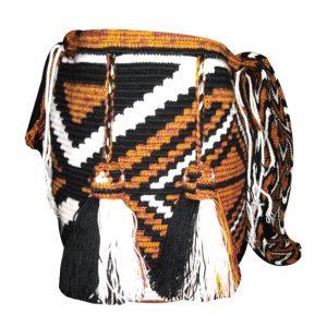 Mochila wayuu grande colores tierra