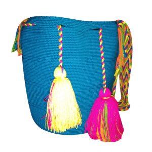 Mochila wayuu grande unicolor